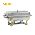 MUK hotel restaurant supplies gold-plating stainless steel food heater chafing dish