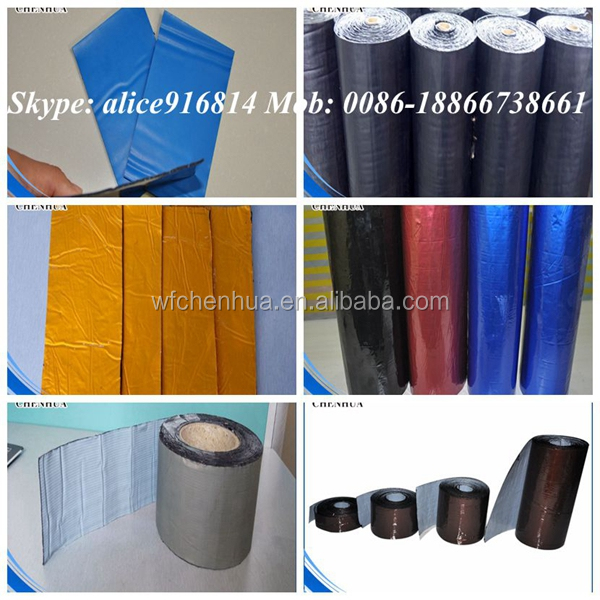 Building material roof self adhesive flash band for waterproofing seams China supplier