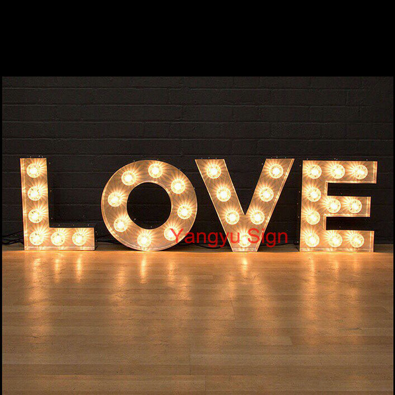 wholesale PVC large Love LED Light up letters <strong>sign</strong> for wedding decoration