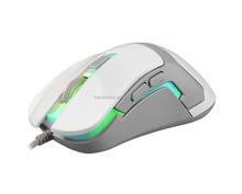 1000 DPI Wired USB Optical Mouse with LED Breathing Light for Laptop and Computer- White color