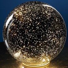 Battery Powered Large 3D LED Lighted decorative Mercury Glass Ball