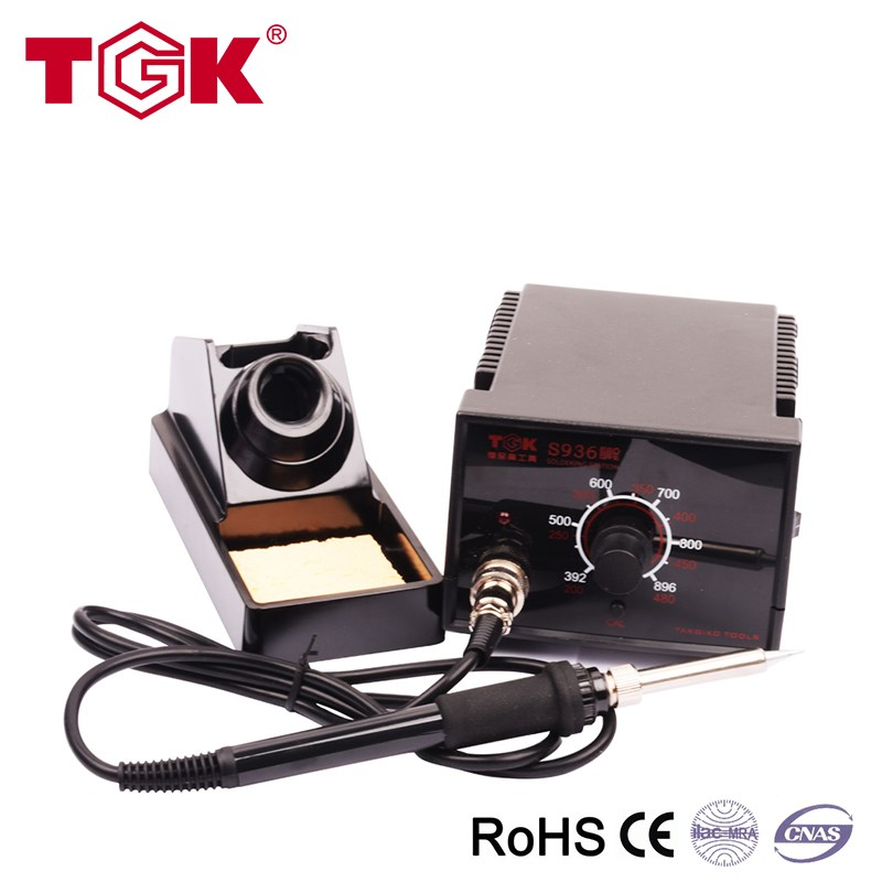 S936 cell phone electric iron soldering station in black color