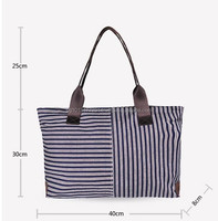 Casual Ladies Stripe Shoulder Bag / Handbag