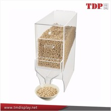 Wholesale Stackable Plastic Cereal Dispenser Clear Acrylic Bulk Food Bin