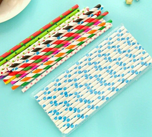 Cute Sweet Color Eco-friendly Food Grade Paper Straw