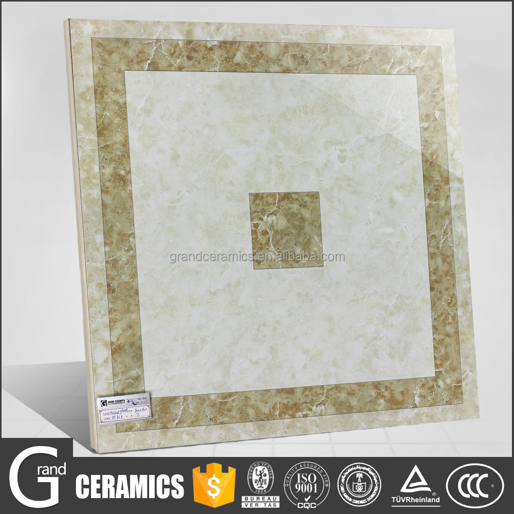 Indoor square shape glazed ceramic parquet feature polished porcelain colorful floor tile