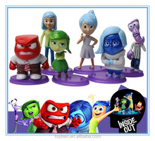 Hot Cartoon Movie Inside Out dolls set of 6pcs PVC action figure Inside Out figures