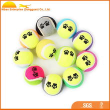 Wholesale cheap rubber tennis ball training pet dog toy