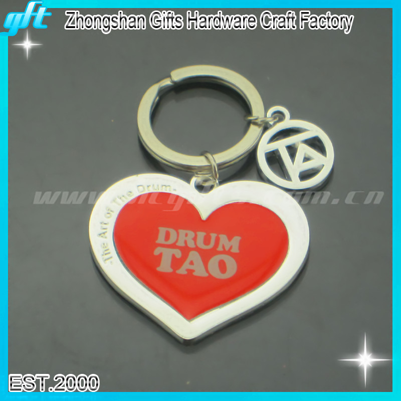 Red Heart Shape Printing epoxy Keychain GFT-KC846