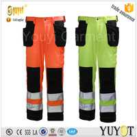 Cheap Price 310gsm Multi Pockets Industry Work Pants with 3M Reflective tape