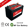 factory 12v75AH 75d31r maintenance free mf cheapest car vehicle battery