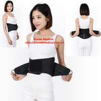 Elastic lumbar back support for back pain