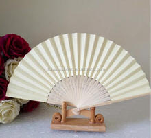 Nice Fans Bamboo Folding Hand Dancing Wedding Party Decor Flower Hand Held Fan