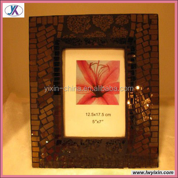 New Design Mosaic Glass Hoarding Photo Frames13/Home decoration mosaic frame
