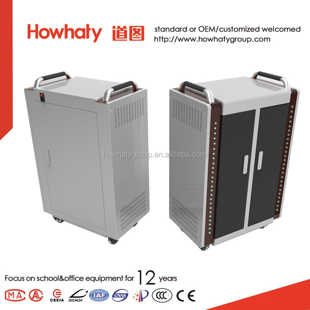 Howhaty cheap multi ipad tablet pc charging cabinet