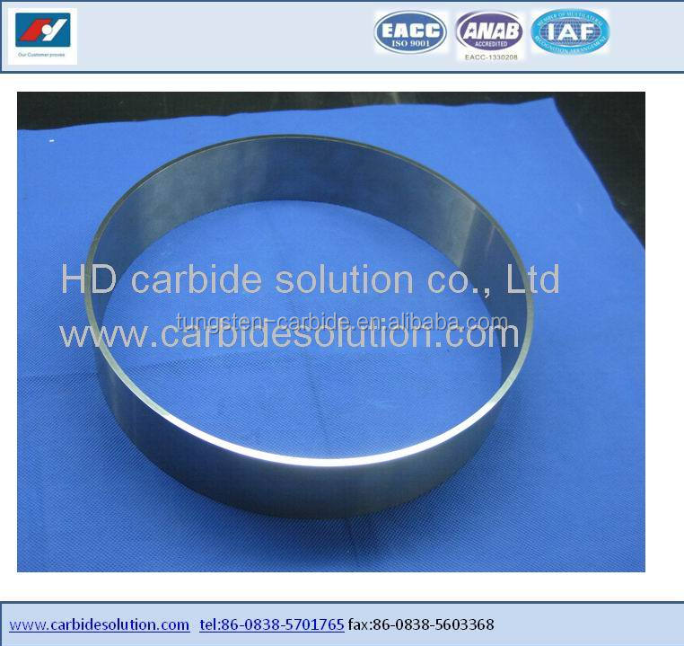 Tungsten carbide blades for paper industry