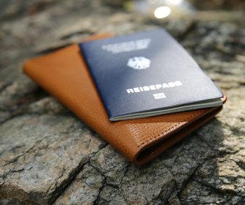 Customized Personalized card slot cow leather with travel leather passport holder