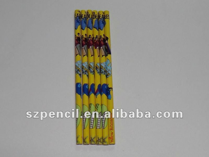 HB pencil lead with full colors printing body pencil