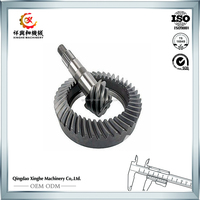 CNC machining stainless steel spur gears and gear drive for autobile parts