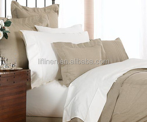 100% pure organic solid linen flax bed linen fabric