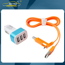 2015 CE Approval Car Power Charger Kit , Mini Charger kit with 3 USB