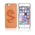 Anti-skid Desgin Cherry Wood Cell Phone Case Cover