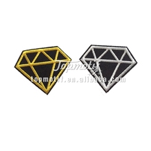 Diamond embroidery patch/ custom embroidery iron on patches/ logo patches embroidery