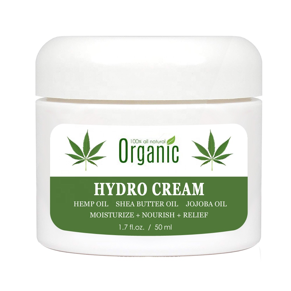 Private Label Natural Organic Hemp Oil <strong>Cream</strong> CBD Moisturizer Moisturizing Soothing Relief Hemp <strong>Cream</strong> Creme Hydro <strong>Cream</strong>