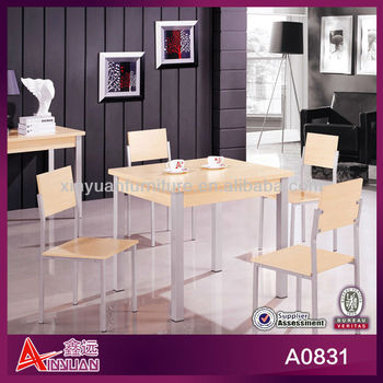 A0831 classic square kitchen dinette table & 4 chairs