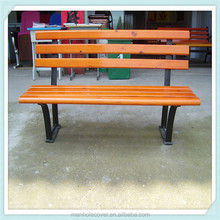 Garden Bench / Wooden Bench With Casting Iron Bench Leg / Outdoor Bench
