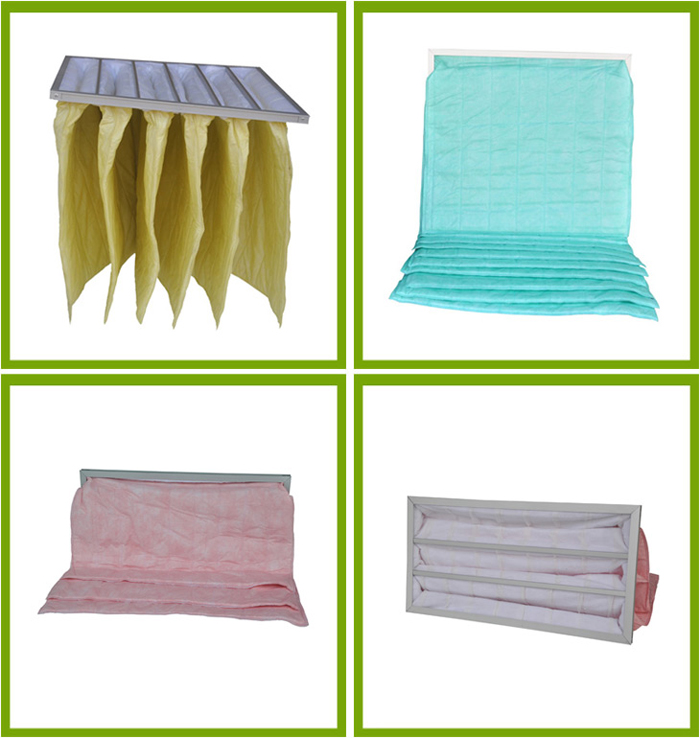 Air Conditioning Bag Filter Fresh Air Pleated Air Filter