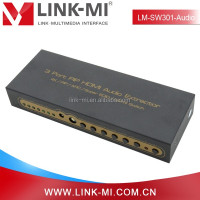 LINK-MI LM-SW301-Audio 3 HDMI In to 1 HDMI Out 1 SPDIF Digital Audio Out 3x1 HDMI Switch Audio Extractor