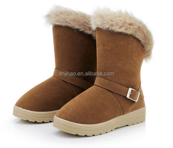 Wholesale Fashion Women Half Boot Winter OEM Snow Fur Boot
