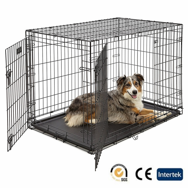 Large dog cage door & double door folding crates
