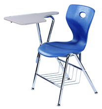 Comfortable Plastic Student School Chairs with Writing Tablet Arm