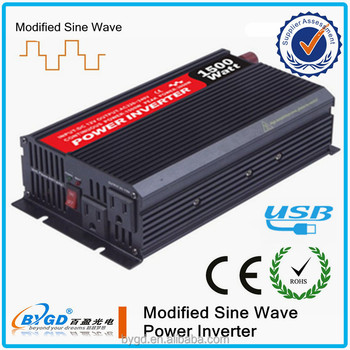 1500w battery dc to ac 12v to 220v invertor for solar
