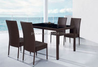 Comfortable Outdoor rattan Chair and Table Rattan Set