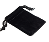 hot sale OEM black velvet jewellery pouch