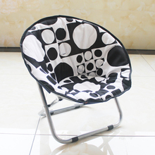 Polyester fabric adult and kids folding chairs folding moon chairs