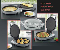 A13 Approval Thermostat Control 30cm Pizza maker Pancake maker With Upper Plate Switch Bottom