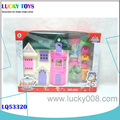 New Products childrens plastic toys doll house door miniature plastic mini toy the toy house furniture girl's gift for sale