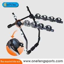 Bicycle Carrier Rear Mounted Bike Rack Carries 4 Bikes