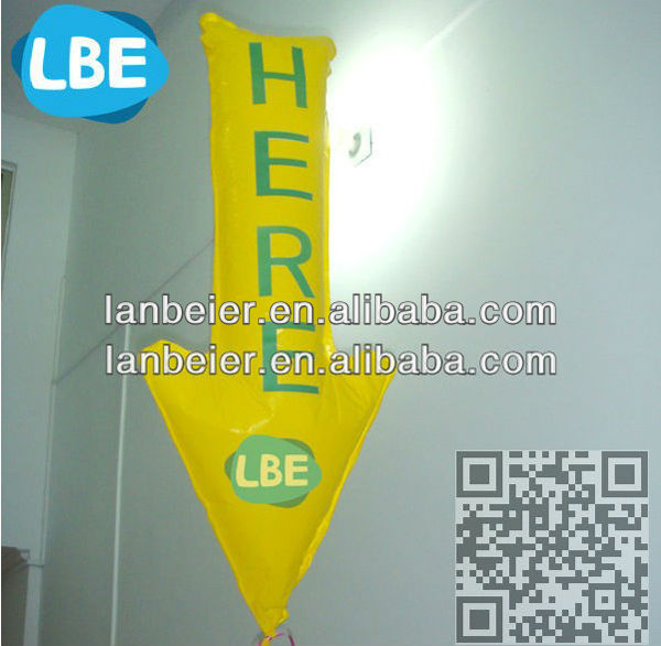 Parking guide foil balloon blinking led balloon