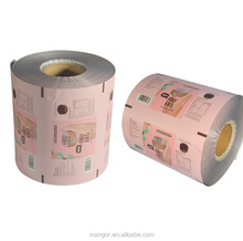Accept custom order plastic film in roll for label packaging