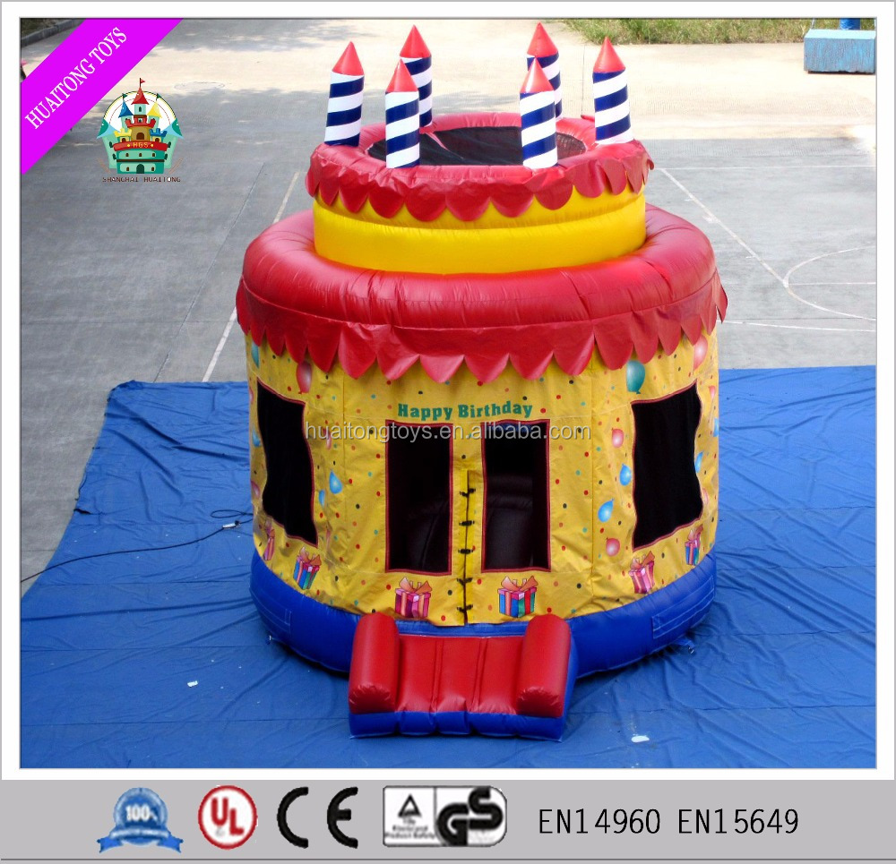 2016 Inflatable Happy Birthday Cake Party Bounce Castle Bouncer House