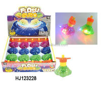 Wind Up Toy LED Spinning Top, Plastic Flashing Top Toy HJ123228