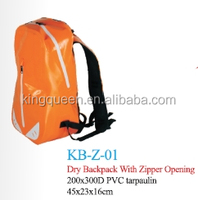 15L PVC Tarpaulin Waterproof Dry Zipper Backpack