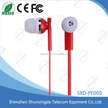 Best selling colorful flat cable mobile phone earphones and earbuds with MiC