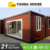 light steel waterproof log cabins prefab house/ prefabricated container homes