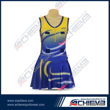 Top quality sublimation netball bodysuits/netball skirts and tops